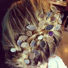 #hair#accessory#druzy#stone#etk