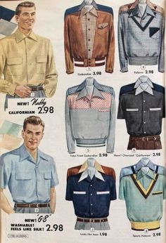 1950s mens shirts jackets