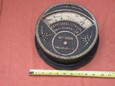 keystone vintage antique gauge steampunk A. C.ammeter
