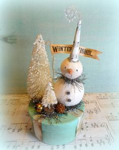 vintage snowmen decorations - Google Search