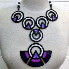 Tribal necklace hama perler beads by xeniaalexander