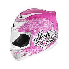 Icon Street Angel Women's Airframe Street Bike Motorcycle Helmet - Pink