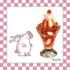 July 7 is OH YES!!!! National Strawberry Sundae Day.