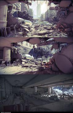 Post Apocalytic environment - Stefan Groenewoud Portfolio