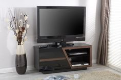 Jual Furnishings JF020 High Gloss TV Cabinet - Walnut - Featuring Jual Furnishings' new and innovative interchangeable fascia system he JF020 is supplied with both Walnut and High Gloss White fascias, allowing you the freedom of choice to vary your decor