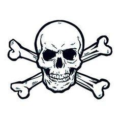 Skull and Crossbones Temporary Tattoo