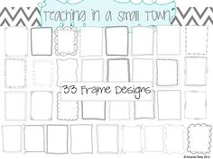 38 Hand Drawn Doodle Frames Bundle from Small Town Clipart on TeachersNotebook.com -  (126 pages)