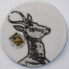 Springbok Brooch lapel pin Africa animal South by decocollection, $9.00