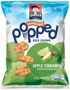 I'm learning all about Quaker® Popped® Apple Cinnamon Rice Crisps 7.04 oz. Bag at @Influenster!