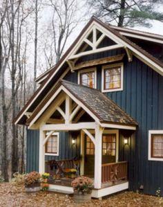 Pole barn homes 15 pole barn homes, pole barn house plans, exterior house colors Exterior Paint Colors, Paint Colors For Home, Siding Colors, Blue Siding, Cabin Exterior Colors, Metal Siding, Roof Colors, Paint Colours, Navy House Exterior