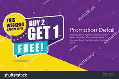 Sale banner template design, poster, This Weekend Special Buy 2 Get 1 Free. Sale Banner, Design Products, Banner Template, Buy 1, Communication, Royalty Free Stock Photos, Label, Ads, Templates