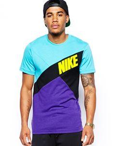 Shop Nike Colourblock T-Shirt at ASOS. Mens Half Sleeve, Half Sleeves, Dkny Mens, Piece Of Clothing, Sport Fashion, Fashion Online, Sportswear, Street Wear, Asos