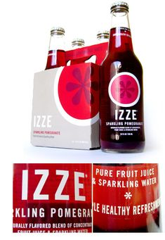 always liked IZZE packaging and colors