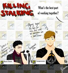 Killing Stalking: Q & A Panel KS actor AU is bloomin' brilliant. I'm sorry there are so many mistakes in this, my hand is done DONE \(〇_o)/ All characters and disturbing plot lines belong to Koogi.
