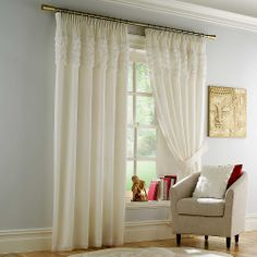 Rimini Lined Standard Header Voile Curtains