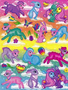 Vintage Lisa Frank Stickers Easter S254 05 | eBay