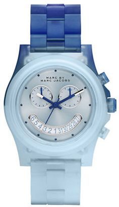 Blue Chronograph Bracelet Watch