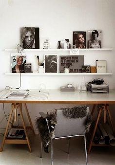Inspiratie tegen de muur op kantoor