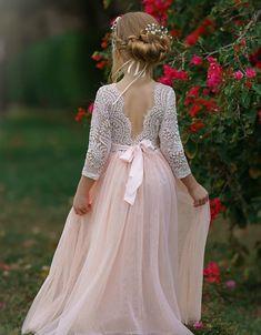 Blush Flower Girl Dresses, Boho Flower Girl, Rustic Flower Girls, Lace Flower Girls, Wedding Dresses For Girls, Blush Dresses, Girls Dresses, Blush Bridesmaid Dresses, Pageant Dresses