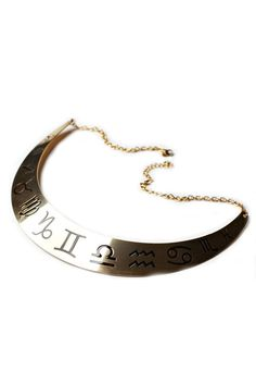 Zodiac Collar Necklace http://shop.nylon.com/collections/whats-new/products/zodiac-collar-necklace #NYLONshop