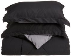 Cathay Home Fashions Silky Soft 2-Piece Microfiber Twin Extra Large Reversible Comforter Set, Black/Grey by Cathay Home Fashions. $44.97. 100% Polyester. Machine washable for easy care. Matching sham. Silky soft for year round use. 100-Percent polyester fill. 100-Percent microfiber reversible comforter set. Silky Soft Twin Extra Large Reversible Comforter Mini Set includes 1 68-inch by 90-inch black/grey comforter and 1 26-inch by 20-inch black/grey sham with flange. 100...