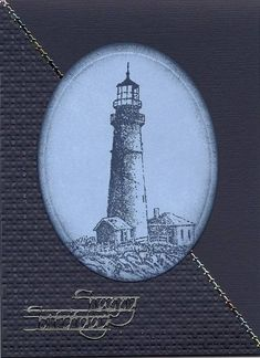 Lighthouse card (blue) by cards4joy - Cards and Paper Crafts at Splitcoaststampers