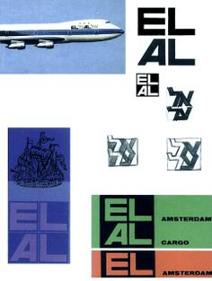 One of Treumann's most famous logos created for Israeli Airlines, 1963. George Him / Otto Treumann
