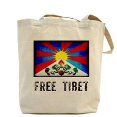 """Free Tibet"" Tote Bag/ getting this and visiting a chinese store TODAY"