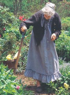 "Farmgirl livin has her up on her feet, and enjoying life, even at the ""end"" of it - Tasha Tudor."