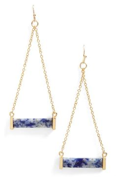 Leith Stone Bar Drop Earrings available at #Nordstrom