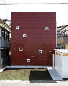 赤茶色ガルバリウム鋼板一文字葺き仕上げ