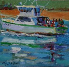 BOATING PARTY, painting by artist Elizabeth Blaylock