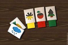 Купить Развивающая игра Учим цвета - развивающая игрушка, игрушка из фетра, мемори, Пазл