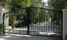 Electric Driveway Gates Installation - Gate Systems - Chicagoland Automatic and . Electric Driveway Gates, Wrought Iron Driveway Gates, Front Gates, Entrance Gates, Entry Doors, Simple Main Gate Design, Main Door Design, Latest Main Gate Designs, Spanish Patio