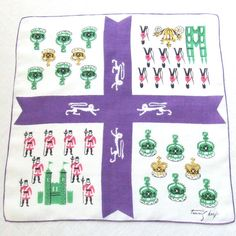 Tammis Keefe Linen Handkerchief British Royalty by LinensandThings, $32.00