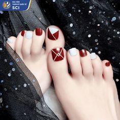 Nail Designs Toenails, Gel Toe Nails, Acrylic Toe Nails, Feet Nail Design, Simple Toe Nails, Cute Toe Nails, Feet Nails, Toe Nail Designs, Pedicure Nails