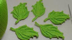 Вязание листика крючком. Красивый объёмный листик крючком. Easy To Croch...