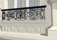 Balcony Grill Design, Balcony Railing Design, Staircase Design, Window Design, Wall Design, House Design, Veranda Railing, Balustrade Balcon, Iron Window Grill