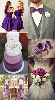 I love it all except the shoes and bouquet- and the large flower on the cake Purple Wedding, Dream Wedding, Wedding Day, Wedding Tips, Wedding Blog, Early Spring Wedding, November Wedding, Pantone, Bridal Brooch Bouquet