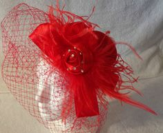 Red Hat Society Red Fascinator   eBay