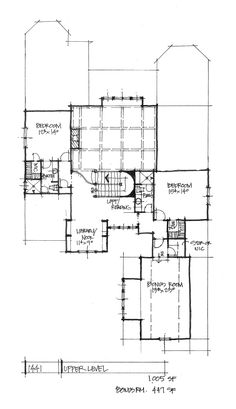 Check out the second floor plan of house plan 1441.