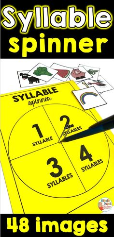 The syllable spinner is a fun way to work on the number of syllables in a word. Syllable awareness is an important component of phonological awareness. This resource is perfect for a center or whole-class activity. Class Activities, Educational Activities, Primary Classroom, Classroom Ideas, Phonological Awareness, Syllable, Teaching French, Teacher Hacks, Teaching Tips