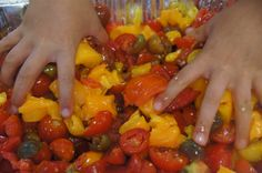 Hands on food education! Learning to love tomatoes.