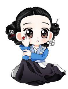 Korean Anime, Korean Art, Asian Art, Cartoon Drawings, Cartoon Art, Anime Chibi, Goblin, Chinese Art, Anime Love