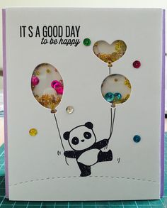Another card using panda stamps again. For a 12yo birthday gal.