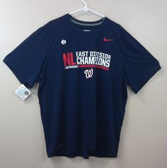 $19.99 and FREE SHIPPING! Washington Nationals Nike Dri-Fit T-Shirt XXL NL East Champs 2014 NEW/NWT MLB  #Nike #Polyvore #ShopStyle