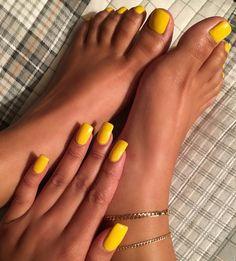 Mustard yellow nails See this Instagram photo by @ilovekenyaaaaaaa • 1,449 likes