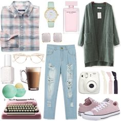 sunday morning by bellafantasy03 on Polyvore featuring mode, WithChic, GANT, Converse, Kate Spade, Seaman Schepps, Splendid, Cutler and Gross, Eos and Essie