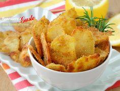 Chips di Patate al forno con limone