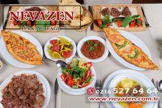 Enfes menümüzden seçim yapmanız biraz zamanınızı alabilir.  Rezervasyon için Tel: 0216 527 64 64  Nevazen Türk Mutfağı - www.nevazen.com.tr